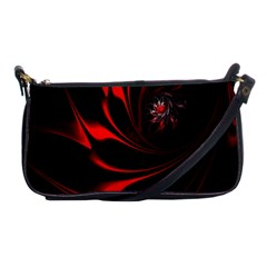 Abstract Curve Dark Flame Pattern Shoulder Clutch Bags