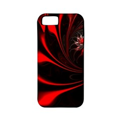 Abstract Curve Dark Flame Pattern Apple Iphone 5 Classic Hardshell Case (pc+silicone)