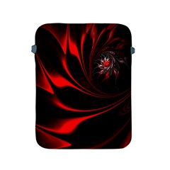 Abstract Curve Dark Flame Pattern Apple Ipad 2/3/4 Protective Soft Cases