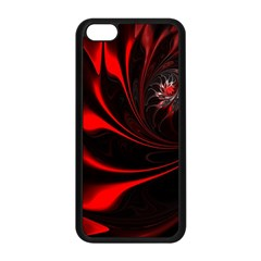 Abstract Curve Dark Flame Pattern Apple Iphone 5c Seamless Case (black)