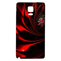 Abstract Curve Dark Flame Pattern Samsung Note 4 Hardshell Back Case