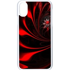 Abstract Curve Dark Flame Pattern Apple Iphone X Seamless Case (white)