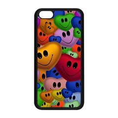Heart Love Smile Smilie Apple Iphone 5c Seamless Case (black)