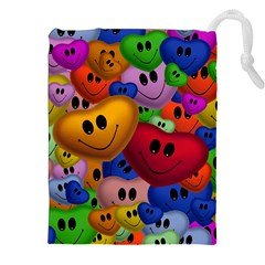 Heart Love Smile Smilie Drawstring Pouches (xxl)