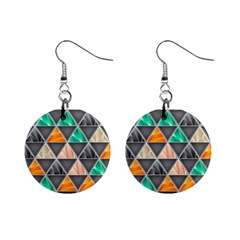 Abstract Geometric Triangle Shape Mini Button Earrings by Nexatart