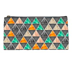 Abstract Geometric Triangle Shape Pencil Cases
