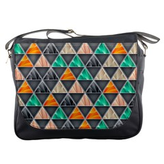 Abstract Geometric Triangle Shape Messenger Bags by Nexatart