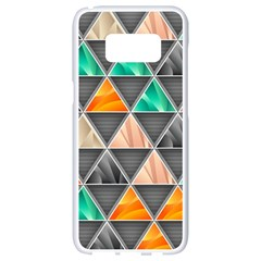 Abstract Geometric Triangle Shape Samsung Galaxy S8 White Seamless Case by Nexatart