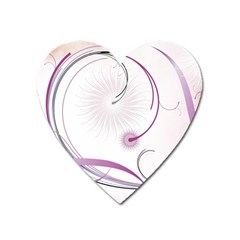 Abstract Background Flowers Heart Magnet by Nexatart