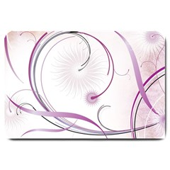Abstract Background Flowers Large Doormat
