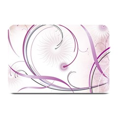 Abstract Background Flowers Plate Mats