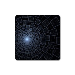 Pattern Abstract Fractal Art Square Magnet