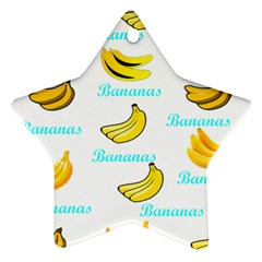 Bananas Star Ornament (two Sides) by cypryanus