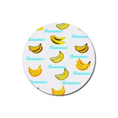 Bananas Rubber Round Coaster (4 Pack)
