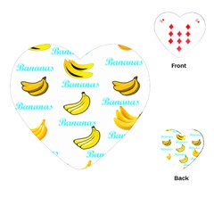 Bananas Playing Cards (heart)  by cypryanus