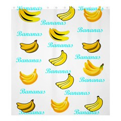 Bananas Shower Curtain 66  X 72  (large)  by cypryanus