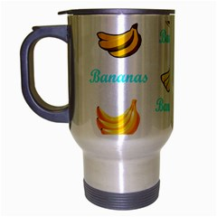 Bananas Travel Mug (silver Gray) by cypryanus