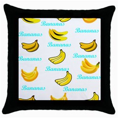 Bananas Throw Pillow Case (black) by cypryanus