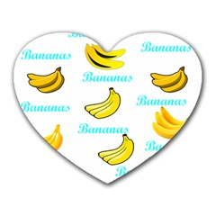 Bananas Heart Mousepads by cypryanus