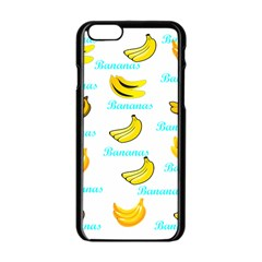Bananas Apple Iphone 6/6s Black Enamel Case by cypryanus
