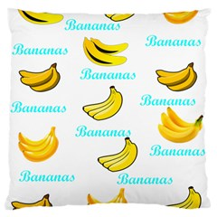 Bananas Large Cushion Case (one Side) by cypryanus