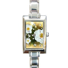 Summer Anemone Sylvestris Rectangle Italian Charm Watch by Nexatart