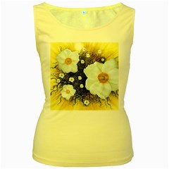Summer Anemone Sylvestris Women s Yellow Tank Top by Nexatart