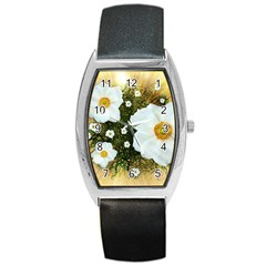Summer Anemone Sylvestris Barrel Style Metal Watch by Nexatart