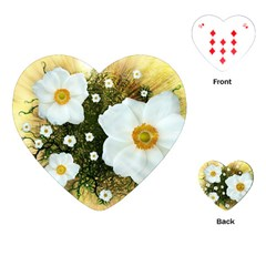 Summer Anemone Sylvestris Playing Cards (heart)