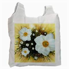 Summer Anemone Sylvestris Recycle Bag (one Side) by Nexatart