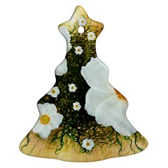 Summer Anemone Sylvestris Christmas Tree Ornament (two Sides)