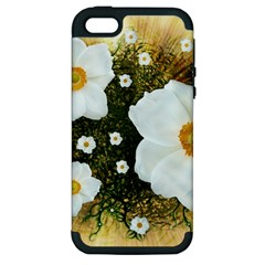 Summer Anemone Sylvestris Apple Iphone 5 Hardshell Case (pc+silicone)