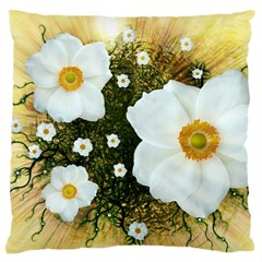 Summer Anemone Sylvestris Large Flano Cushion Case (two Sides)