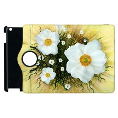 Summer Anemone Sylvestris Apple Ipad 2 Flip 360 Case
