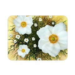 Summer Anemone Sylvestris Double Sided Flano Blanket (mini)  by Nexatart