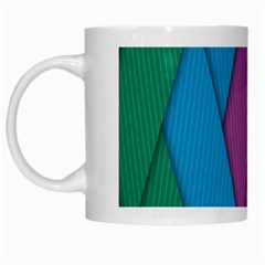 Abstract Background Colorful Strips White Mugs by Nexatart