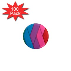Abstract Background Colorful Strips 1  Mini Magnets (100 Pack)