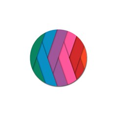 Abstract Background Colorful Strips Golf Ball Marker