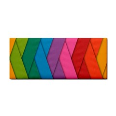 Abstract Background Colorful Strips Hand Towel by Nexatart