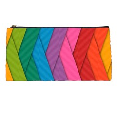 Abstract Background Colorful Strips Pencil Cases by Nexatart