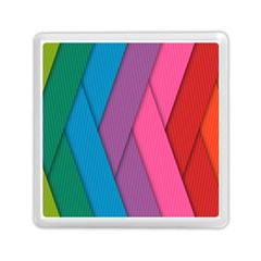 Abstract Background Colorful Strips Memory Card Reader (square)  by Nexatart