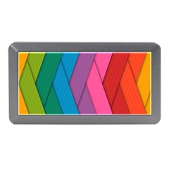Abstract Background Colorful Strips Memory Card Reader (mini)