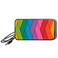 Abstract Background Colorful Strips Portable Speaker
