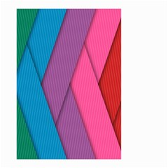Abstract Background Colorful Strips Small Garden Flag (two Sides) by Nexatart