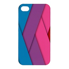 Abstract Background Colorful Strips Apple Iphone 4/4s Premium Hardshell Case