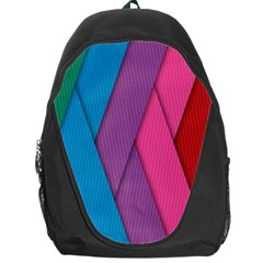 Abstract Background Colorful Strips Backpack Bag by Nexatart
