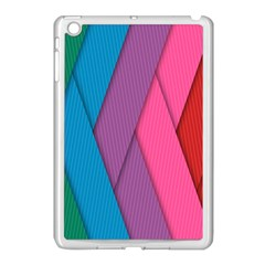 Abstract Background Colorful Strips Apple Ipad Mini Case (white) by Nexatart