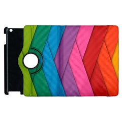 Abstract Background Colorful Strips Apple Ipad 2 Flip 360 Case