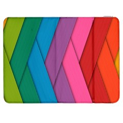 Abstract Background Colorful Strips Samsung Galaxy Tab 7  P1000 Flip Case by Nexatart