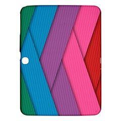 Abstract Background Colorful Strips Samsung Galaxy Tab 3 (10 1 ) P5200 Hardshell Case  by Nexatart